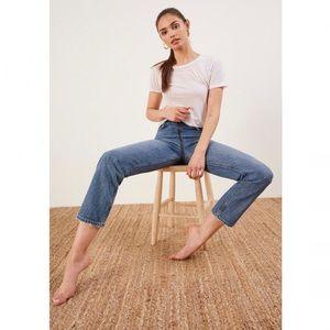 ✨ NWT Reformation Zip Crop Straight Leg Jeans ✨